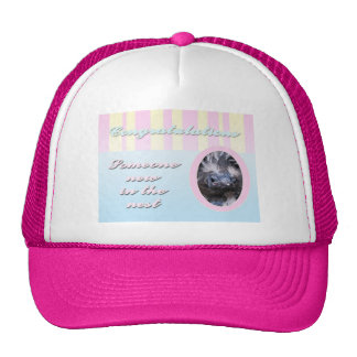 Congratutions on you new baby girl or boy trucker hat