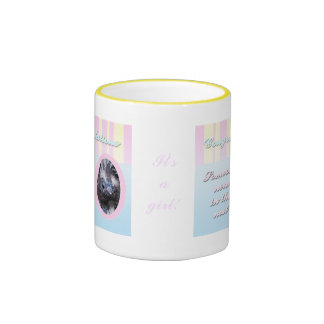 Congratutions on you new baby girl or boy ringer mug