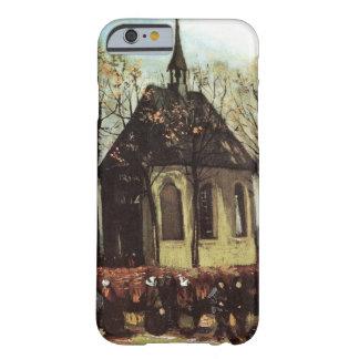 Congregación de Van Gogh que sale de la iglesia Funda De iPhone 6 Barely There