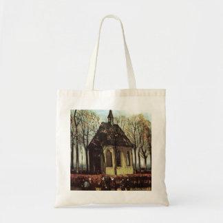 Congregation exiting Church in Nuenen - van Gogh Canvas Bag