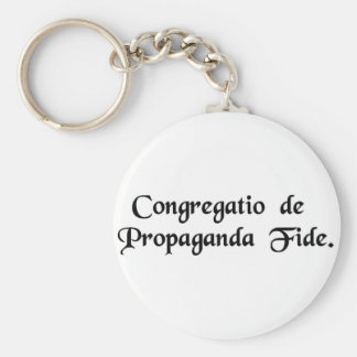 Congregation for the Propagation of the Faith. Basic Round Button Keychain
