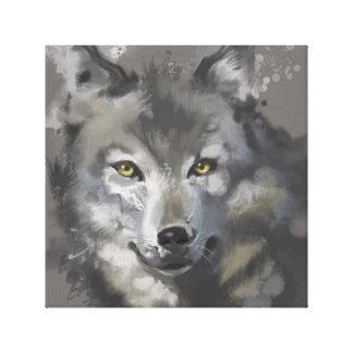 congregation wolf canvas print