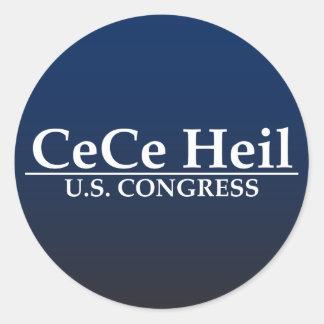 Congreso de CeCe Heil los E.E.U.U. Pegatina Redonda