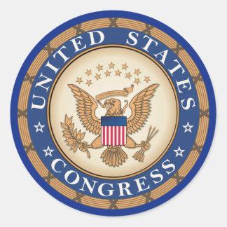 Congreso de Estados Unidos Pegatina Redonda