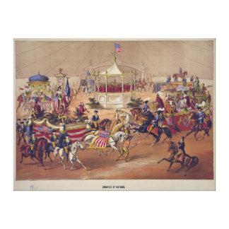 Congreso de las naciones (1875) impresion de lienzo