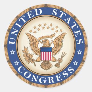 Congreso de los E E U U Etiqueta Redonda