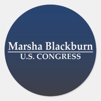 Congreso de Marsha Blackburn los E.E.U.U. Pegatina Redonda