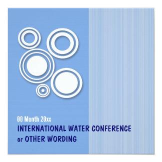 """Congreso de negocios de la energía de agua invitación 5.25"""" x 5.25"""""""