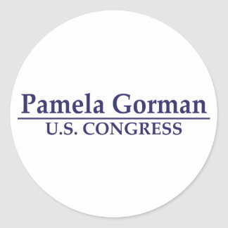 Congreso de Pamela Gorman los E.E.U.U. Pegatina Redonda