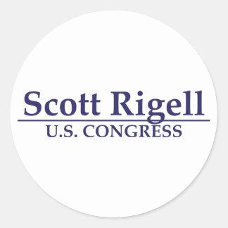 Congreso de Scott Rigell los E.E.U.U. Pegatina Redonda