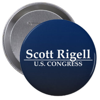 Congreso de Scott Rigell los E.E.U.U. Pin Redondo De 4 Pulgadas