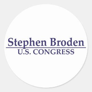 Congreso de Stephen Broden los E.E.U.U. Etiqueta Redonda