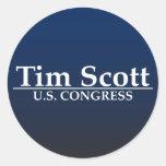 Congreso de Tim Scott los E.E.U.U. Pegatina Redonda