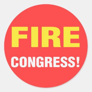 ¡Congreso del fuego Pegatina