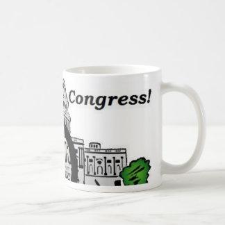 Congreso del gasto y del comercio del casquillo taza de café