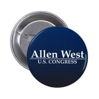 Congreso del oeste de Allen los E.E.U.U. Pin Redondo De 2 Pulgadas