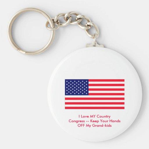 Congreso -- Guarde sus manos de mis Magnífico-niño Llaveros Personalizados