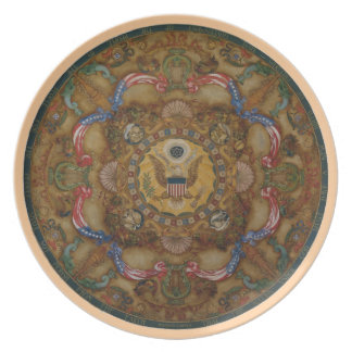 Congreso patriótico de la biblioteca de la pintura platos para fiestas