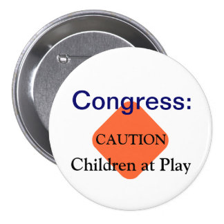 Congreso Pin Redondo De 3 Pulgadas