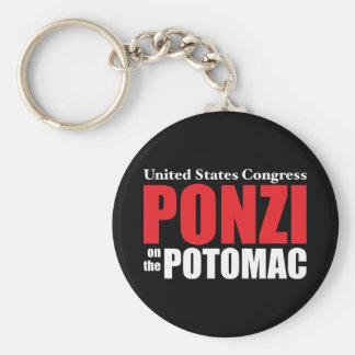 Congreso: Ponzi en el Potomac Llavero Redondo Tipo Pin