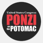 Congreso: Ponzi en el Potomac Pegatinas Redondas
