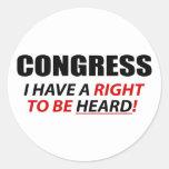 Congreso: ¡Tengo una derecha que ser oída! Etiquetas Redondas