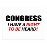 Congreso: ¡Tengo una derecha que ser oída! Postal