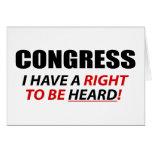 Congreso: ¡Tengo una derecha que ser oída! Tarjeton