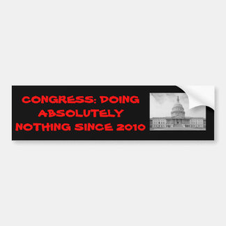 Congress 2010 Doing Absolutly Nothing Sticker