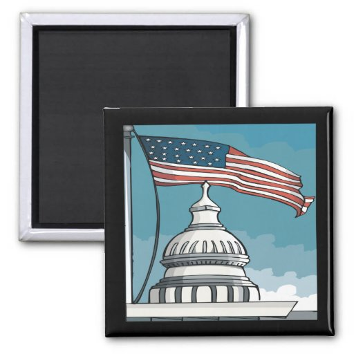 Congress 2 Inch Square Magnet