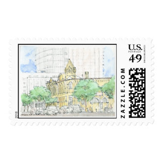 Congress Ave. at 4th Street, Austin,Texas-Stamp Stamp