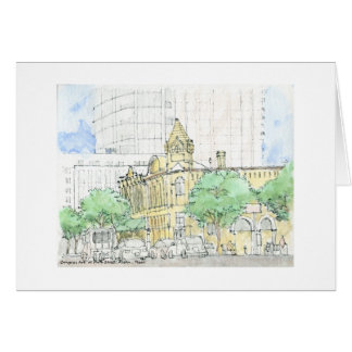 Congress Ave. at Fourth Street, Austin, Texas Stationery Note Card