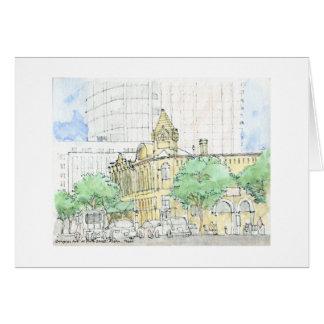 Congress Ave. at Fourth Street, Austin, Texas Card