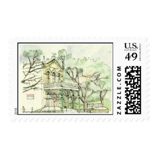Congress Ave. at Tenth Street, Austin, Texas-Stamp Postage