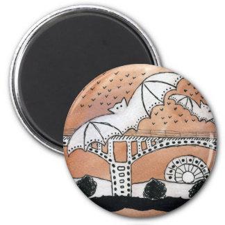 Congress Avenue Bats 2 Inch Round Magnet