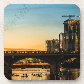 Congress Avenue Bridge Bat Watching Beverage Coaster