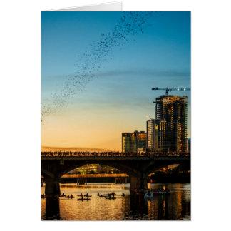 Congress Avenue Bridge Bat Watching Card