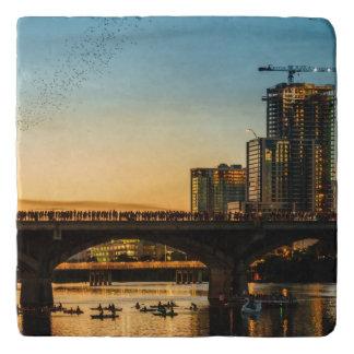 Congress Avenue Bridge Bat Watching Trivet
