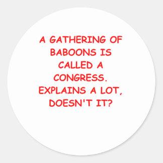 congress classic round sticker