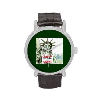 Congress Closed 4 Repair Lady Liberty Funny Watch Wristwatch