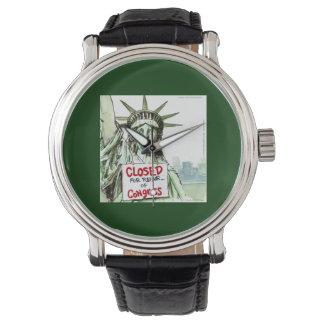 Congress Closed 4 Repair Lady Liberty Funny Watch