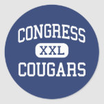 Congress Cougars Middle Kansas City Missouri Stickers