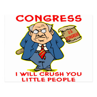 Congress Crushing We The People Postcard