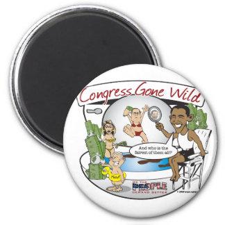 congress gone wild 2 inch round magnet