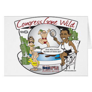 congress gone wild greeting card