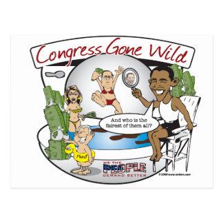 congress gone wild postcard
