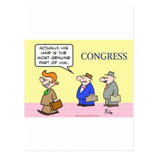 congress hair genuine part postcard
