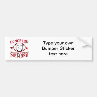 Congress' Hardest Working Member Car Bumper Sticker