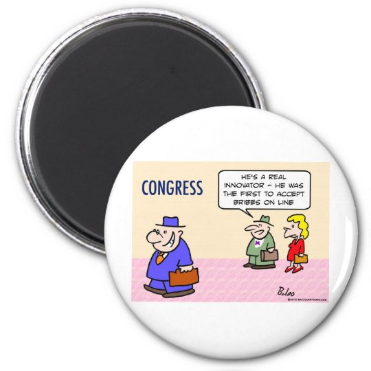 congress innovator accepts bribes on line magnet
