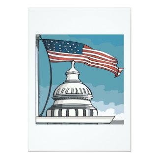 """Congress 5"""" X 7"""" Invitation Card"""
